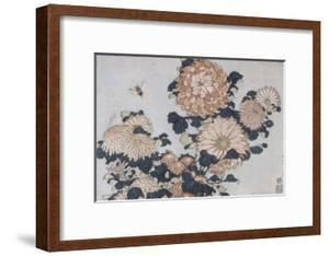 Chrysanthèmes et taon by Katsushika Hokusai