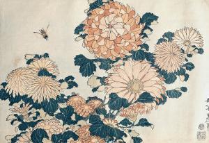 Chrysanthemums by Katsushika Hokusai