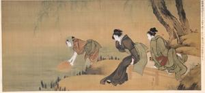Cooling Off on a Summer Evening by Katsushika Hokusai
