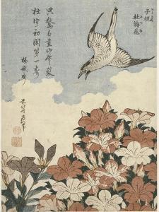 Coucou et azalées by Katsushika Hokusai
