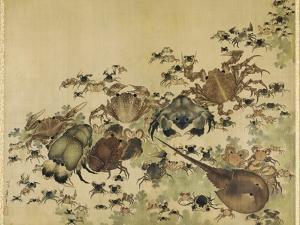 Crustaceans, Edo Period C.1825 by Katsushika Hokusai