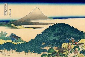 Cushion pine at Aoyama, Edo, c.1830 by Katsushika Hokusai