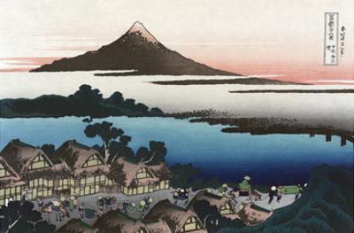 Dawn at Isawa in Kai Province by Katsushika Hokusai