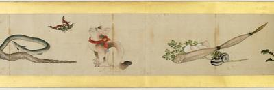 Detail of Handscroll with Miscellaneous Images, Edo Period, 1839 by Katsushika Hokusai