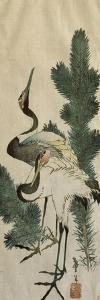 Deux hérons by Katsushika Hokusai