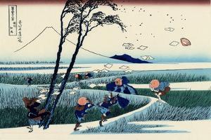 Ejiri in the Suruga Province, c.1830 by Katsushika Hokusai