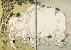 Elephant by Katsushika Hokusai