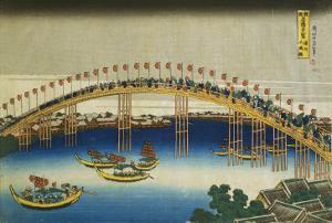 Evening Scene on the Occasion of the Festival of Lanterns by Katsushika Hokusai