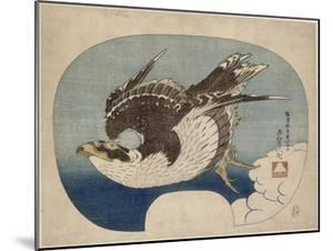 Faucon en vol by Katsushika Hokusai
