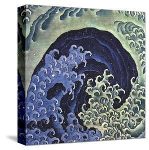 Feminine Wave (detail) by Katsushika Hokusai
