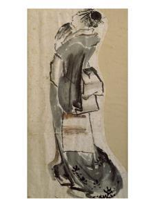 Femme de profil by Katsushika Hokusai