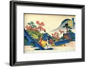 From the Series Hundred Poems by One Hundred Poets: Fujiwara No Tadahira, C1830 by Katsushika Hokusai