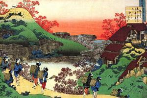From the Series Hundred Poems by One Hundred Poets: Sarumaru Dayu, C1830 by Katsushika Hokusai