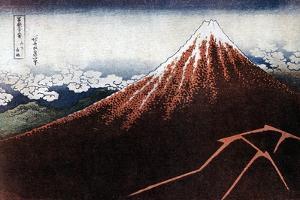 Fuji Above the Lightning, C1823 by Katsushika Hokusai