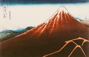 "Fuji Above the Lightning"", from the Series ""36 Views of Mt. Fuji"" by Katsushika Hokusai"