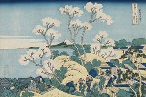 Fuji from Goten-yama, at Shinagawa on the Tôkaidô by Katsushika Hokusai