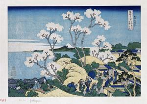 Fuji from Gotenyama at Shinagawa on the Tokaido' by Katsushika Hokusai