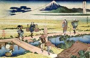 'Fuji Seen from Nakahara', from the Series '36 Views of Mt.Fuji' ('Fugaku Sanjurokkei'), Pub. by… by Katsushika Hokusai