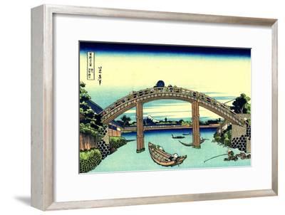 Fuji Seen Through the Mannen Bridge at Fukagawa, Edo, c.1830