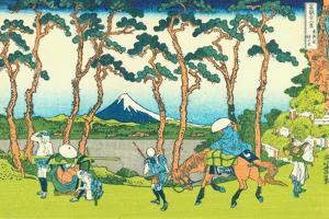 Hodogaya on the Tokaido, c.1830 by Katsushika Hokusai