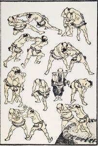 Hokusai: Sumo by Katsushika Hokusai