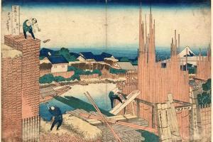 Honjo Tatekawa by Katsushika Hokusai