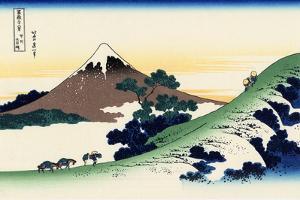 Inume Pass in the Kai Province, c.1830 by Katsushika Hokusai