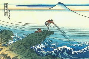 Kajikazawa in Kai Province, c.1830 by Katsushika Hokusai