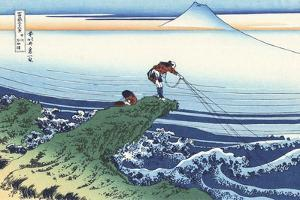 Kajikazawa in Kai Province by Katsushika Hokusai