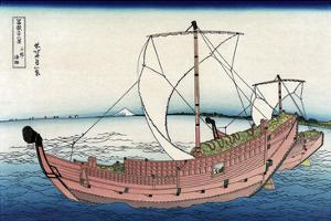 Kazusa Sea Route by Katsushika Hokusai