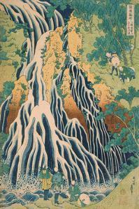 Kirifuri Waterfall at Kurokami Mountain in Shimotsuke by Katsushika Hokusai