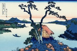 Lake Suwa in the Shinano province, c.1830 by Katsushika Hokusai