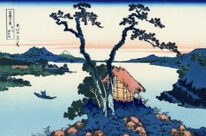 Lake Suwa in the Shinano Province by Katsushika Hokusai