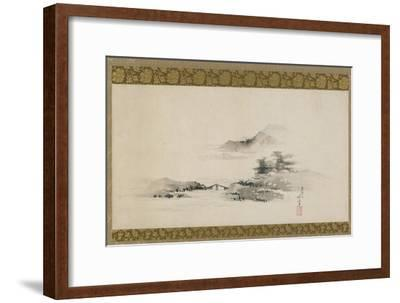 Landscape, Edo Period, C.1801-02 (Ink and Colour on Paper Mounted as Hanging Scroll)