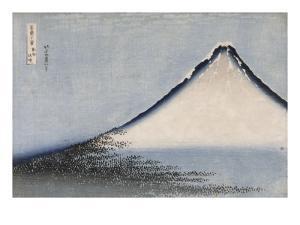 Le Fuji bleu by Katsushika Hokusai