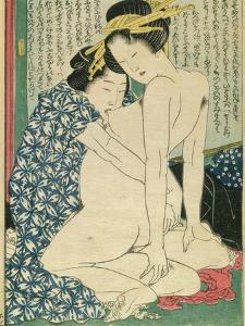 Lesbian Lovers, from 'Manpoku Wago-Jin', 1821 by Katsushika Hokusai