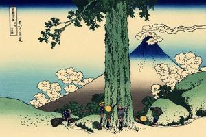 Mishima Pass in Kai Province, c.1830 by Katsushika Hokusai
