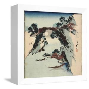 Moon Underneath the Bridge, 1811-1820 by Katsushika Hokusai