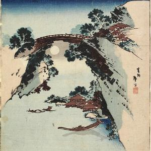 Moon Underneath the Bridge, 1811-1820 by Katsushika Hokusai