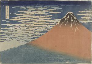 Mount Fuji in Clear Weather (also known as Red Fuji), c.1830 by Katsushika Hokusai