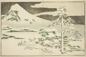 Mount Fuji in Winter, from the Picture Book of Realistic Paintings of Hokusai, C.1814 by Katsushika Hokusai