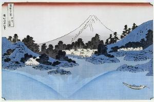 Mount Fuji Reflected in Lake Misaica, from the Series '36 Views of Mount Fuji' ('Fugaku… by Katsushika Hokusai
