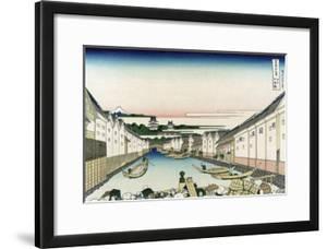 Nihonbashi Bridge in Edo by Katsushika Hokusai