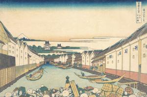 Nihonbashi in Edo by Katsushika Hokusai