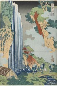 Ono Falls on the Kiso Road, C. 1833 by Katsushika Hokusai