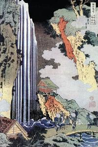 Ono Waterfall Along the Kisokaido, C1780-1849 by Katsushika Hokusai