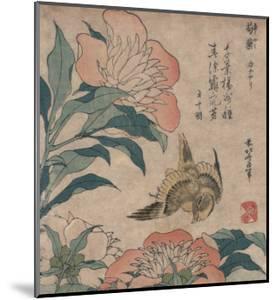 Peony and Canary, circa 1825 by Katsushika Hokusai