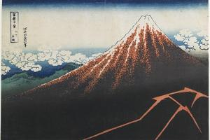 Rainstorm Beneath the Summit, 1831-1834 by Katsushika Hokusai