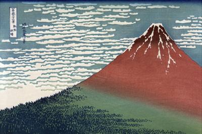 Red Fuji or South Wind, Clear Sky by Katsushika Hokusai