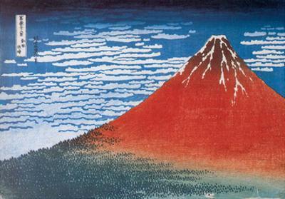 Red Fuji, South Wind, Clear Sky by Katsushika Hokusai